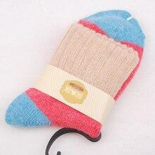 5 цветов новые осенние и зимние из кроликовой шерсти хлопчатобумажные носки толстые отбортовки манжеты Для женщин леди обувь для девочек для возраста от двух до девяти лет