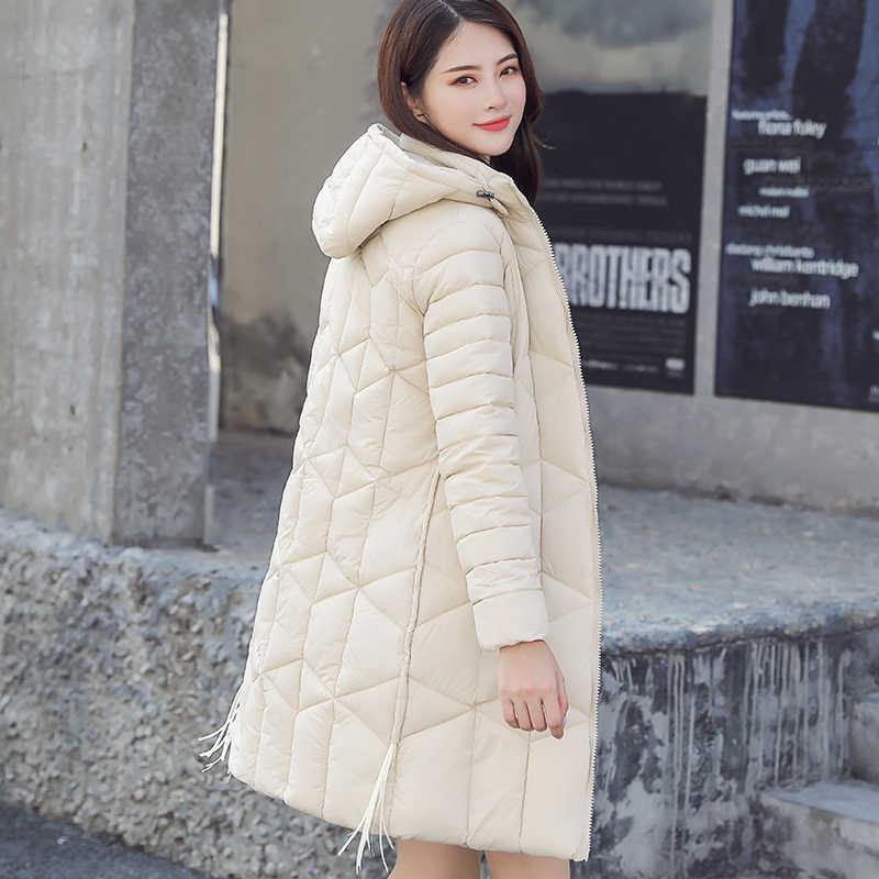 ... Парка Для женщин 2019 зимняя куртка Для женщин пальто с капюшоном  Женская куртка теплая хлопковая стеганая 6ddae7cf693d3