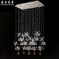 크리스탈 chadelier 빛 led 램프 나비 디자인 매달려 조명 레스토랑 조명 l80 * w30 * h100cm