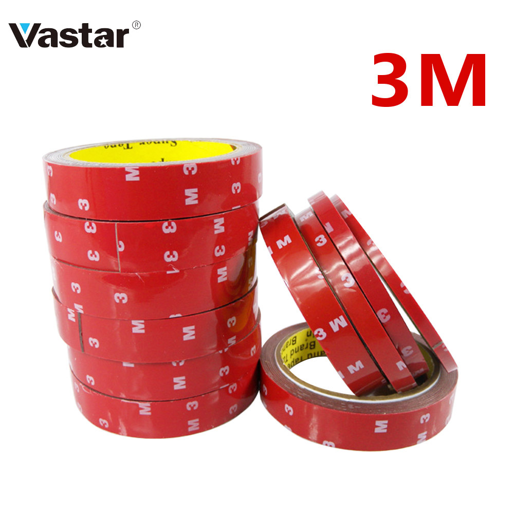 6/8/10/15/20MM Double Sided Tape 1 Roll 3M Long Auto Acrylic Foam Sticker Adhesive Glue Tape For Car Screen Repair Accessories
