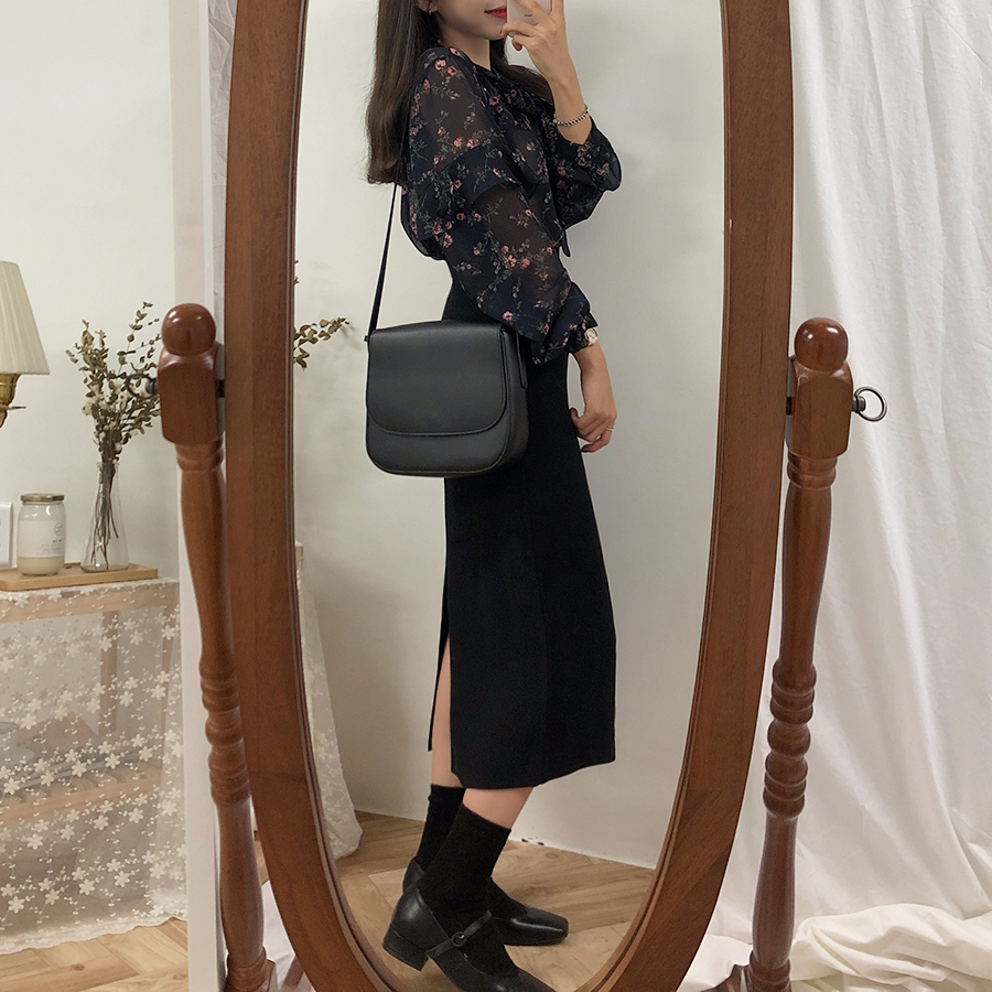 HTB14jT1XDjxK1Rjy0Fnq6yBaFXae - Solid Black Brown Mid Calf Women Skirt Vintage Spring Summer Straight Skirt Long Office Lady High Waist Girls skirts Femininas