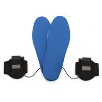Best Deal M / L Battery Electric Heated Insoles Health Foot Heater Breathable Deodorant Electrically Heated Insoles
