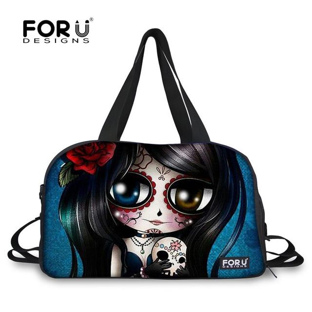 a6071ac9f32c FORUDESIGNS Fashion print Women Men Travel Bags