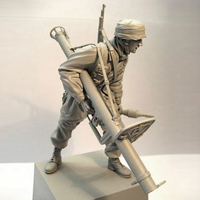 1/16 Normandy War Paratroopers In World War II Military Scene Resin Personage Model