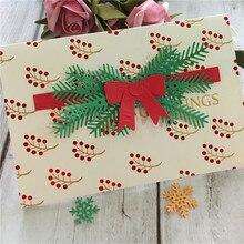 Christmas Tree Leaves Pine Cone Metal Cutting Dies Stencil Xmas Gift Scrapbooking DIY Decorative Paper Craft