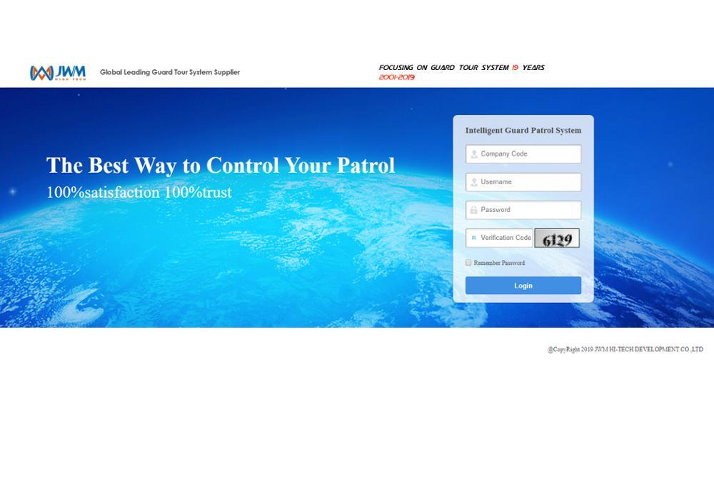 Купить с кэшбэком JWM Waterproof IP67 Rugger RFID Guard Tour Patrol System with free cloud software
