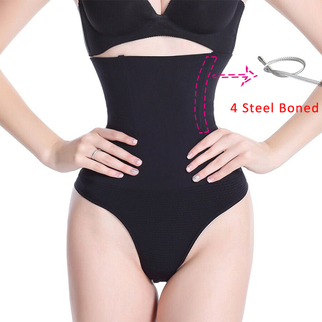2e23ae73c Women Shapewear High Waist Tummy Control Pants Body Shaper Seamless  Underwear Thong Panties Slimming Girdle Bodysuit