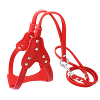 New Nylon Dog Pettorine Lucido Confortevole All'aperto Petto Diamante Vestito Fionda Dog Pet Pettorine Pet Supplies (rosso, nero, rosa)