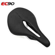 EC90 bicycle saddle full carbon fiber leather road mountain bike mtb soft hollow front seat cushioncycling parts
