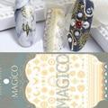 1 Folha Ultrafinos Adhesive 3D Nail Sticker Star/Lua Cor de Ouro Decalque 10.3*8 cm Decoração de Unhas