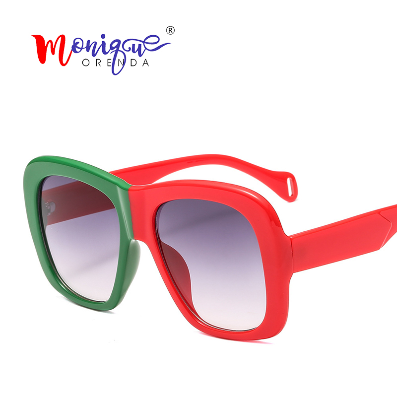 Square Sunglasses Oversized Gradient Vintage Designer Fashion Women Brand UV400 Oculos