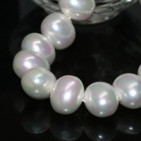 New fashion natural 16*19mm white pearl shell approx round irregular loose beads jewelry making 15inch B2275