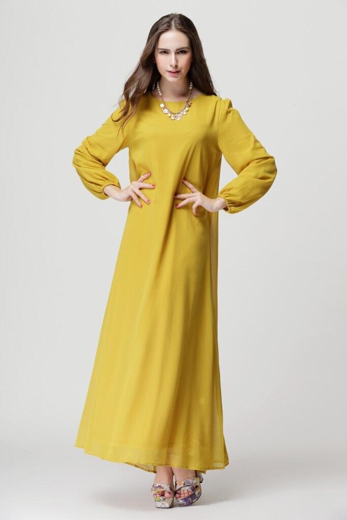 5016233a5929 2017 Muslim Abaya Dress Turkish Long Gown Toga Clothing for Women Hijab  Dubai Kaftan Chiffon Female Ladies Dress Free Shipping