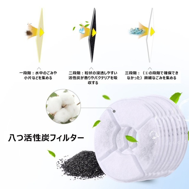 8pcs/lot Activated Carbon Filter For 1.8L LED Automatic Water Drinking Fountain Cat Dog Kitten Pet Bowl Drink Dish Filter 2
