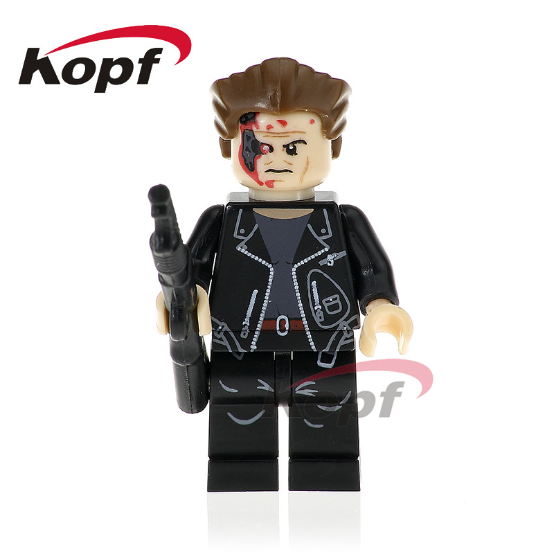 Single Sale Super Heroes The Terminator Batman Panther Red Flash Bricks Model Building Blocks Collection Toys for childen PG376 single sale super heroes red yellow deadpool duck the bride terminator indiana jones building blocks children gift toys kf928