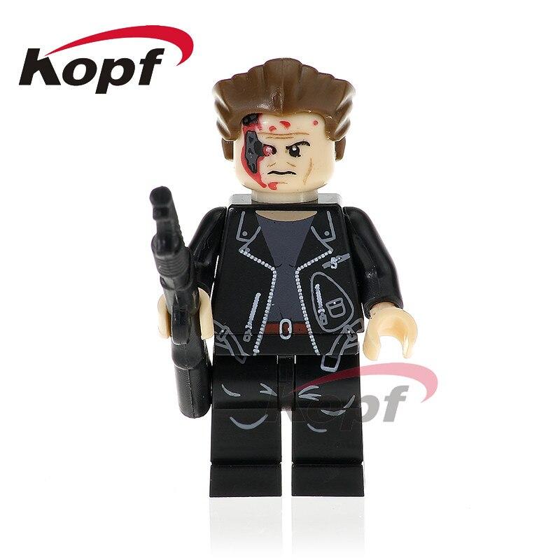 Single Sale Super Heroes The Terminator Batman Panther Red Flash Bricks Model Building font b Blocks