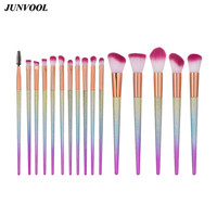 16PCS Makeup Brushes Fantasy Set Pro Foundation Powder Eyeshadow Contour Blush Brush Gradient Color Cosmetic Beauty