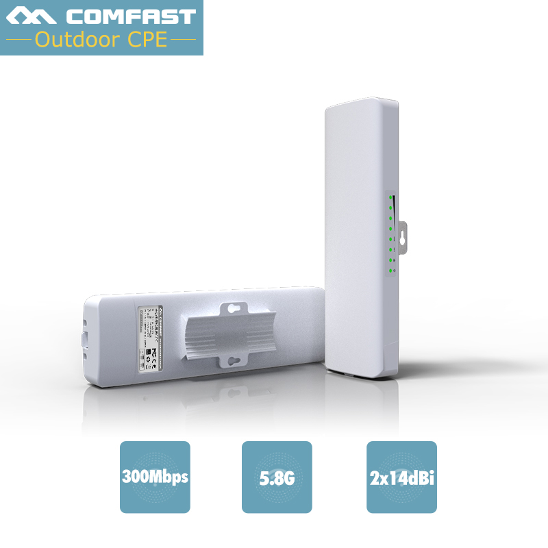 2PC Long Distance CPE WIFI Router 5G Wireless Outdoor AP 300mbps WiFi Bridge point to point Extender Access Point nano station walther nano point 2 1017