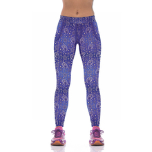NEW KYK1011 Sexy Girl Women National Floral 3D Prints High Waist Running Fitness Sport Leggings Jogger Yoga Pants