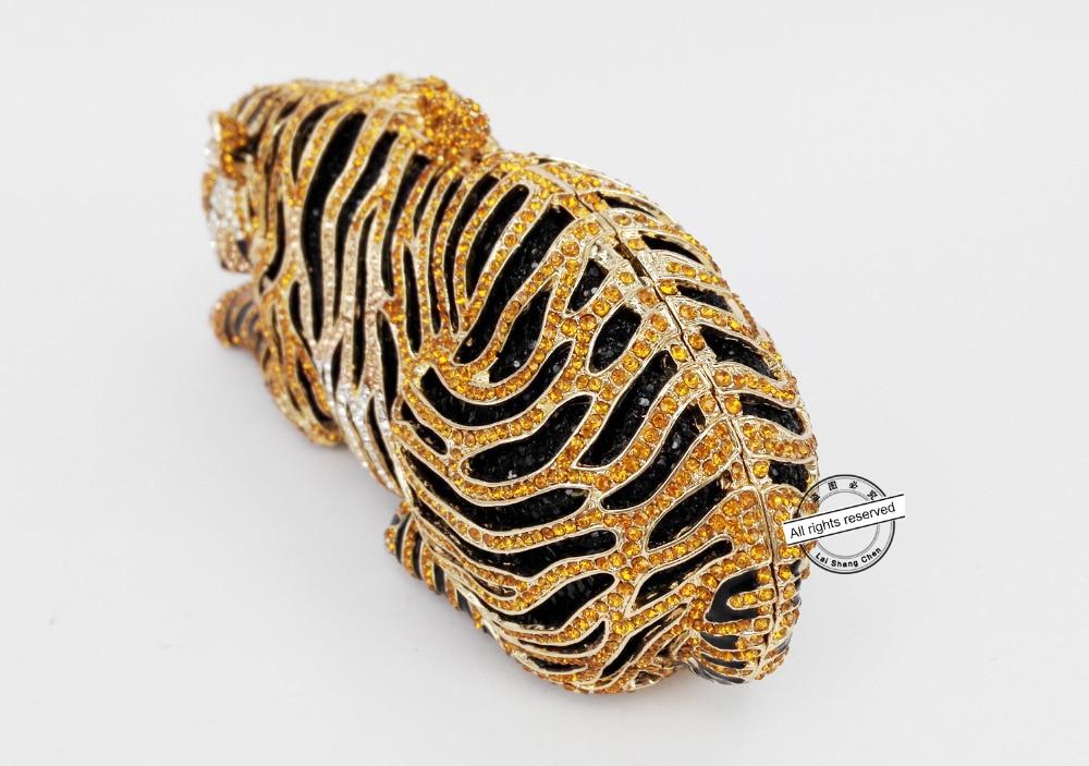 Bolso de noche de cristal de lujo de tigre Animal bolso de fiesta de cóctel de leopardo bolso de mano envío gratis bolsos de embrague de mujer monedero SC030-in Bolso de noche from Maletas y bolsas    2