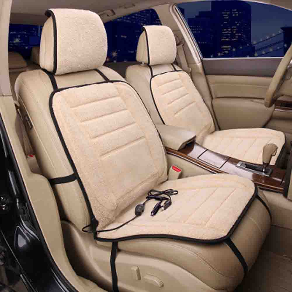 12V Car Seat Heater Covers Pad Electric Heated Seats Auto Car Seat Cushion Hot Fur Car