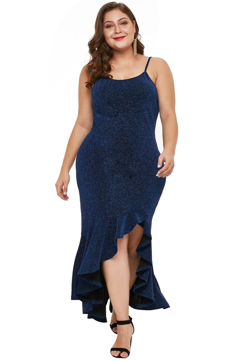 Navy-Blue-True-Shine-Plus-Size-High-low-Dress-LC610939-5-4