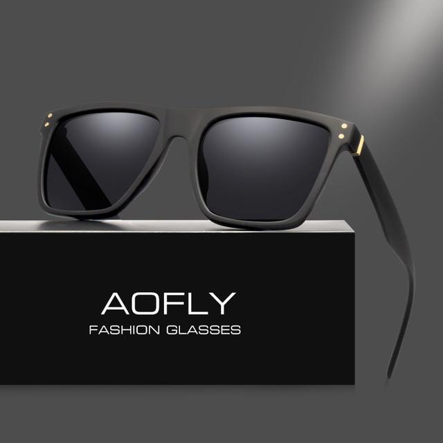 AOFLY Men Polarized Sunglasses Vintage Male Sunglasses Polaroid lenses Fashion Brand Designer Goggles Oculos Gafas De So AF8033