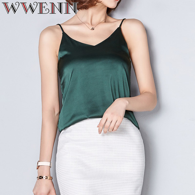 High Quality Spring Summer Casual 7 Colors Shirt Sleeveless Blouse Women Blusas 1