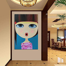 Wall Pictures Art Decoration Lovely Girl Modern Canvas Painting For Living Room Ready to Hang