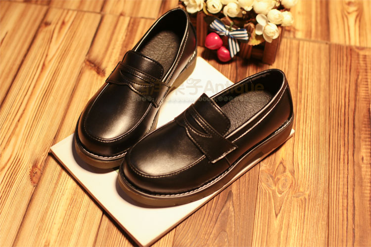2018 New Japanese Style College Student Shoes Cosplay Maid Shoes Lolita Shoes for Women Girls Fashion Black Brown Platform Shoes in Shoes from Novelty Special Use