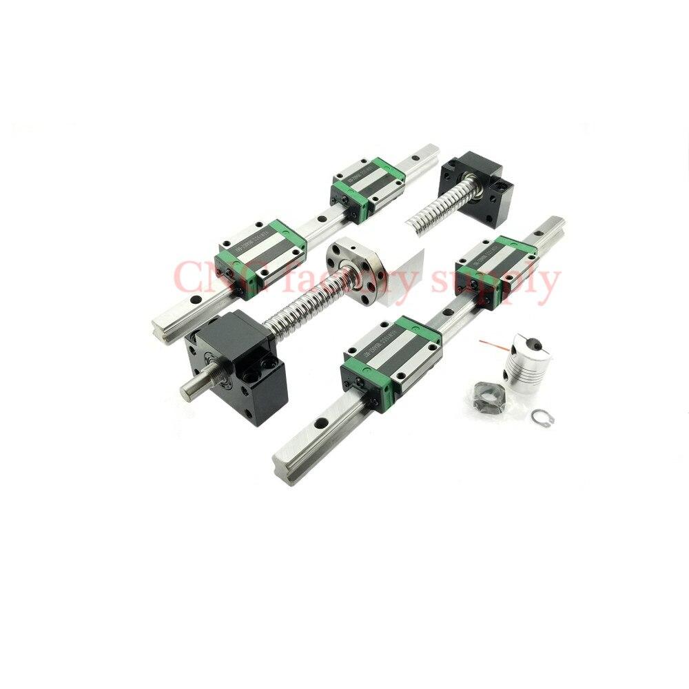 Объёмный рисунок (3D-принт) частей ЧПУ SFU1605-300 400 SFU1204-L-600mm700mm комплект шариковых винтов + HGR15 линейный рельс + HGH15CA каретки или HGW15CA блок