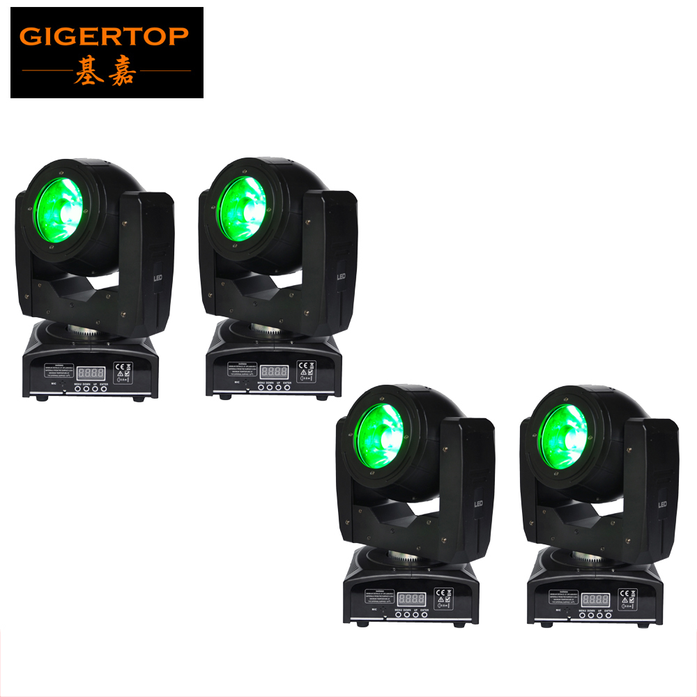 Freeshipping 4 Pack 75W Led Moving Head Light 4 Degree Lens Beam Scan Light 60W O-R-SA-M 4IN1 LED Auto, Sound, DMX, Master/Slave