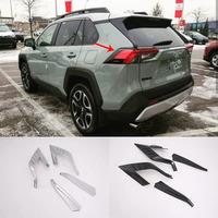 4pcs ABS Chrome Rear Tail Light Lamp Cover Sticker Decoration Trim Accessories For Toyota RAV4 2019