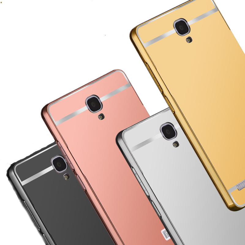 Redmi Note hongmi Note 1 Hot Sale Luxury Mirror Metal Aluminum+Acrylic Hard Back Cover For Xiaomi Redmi Note phone case shell