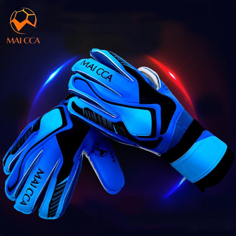 Soccer Goalkeeper Gloves Professional Thick Latex Non-slip Soccer Goalie Gloves With Finger Protection Kids Adult Size