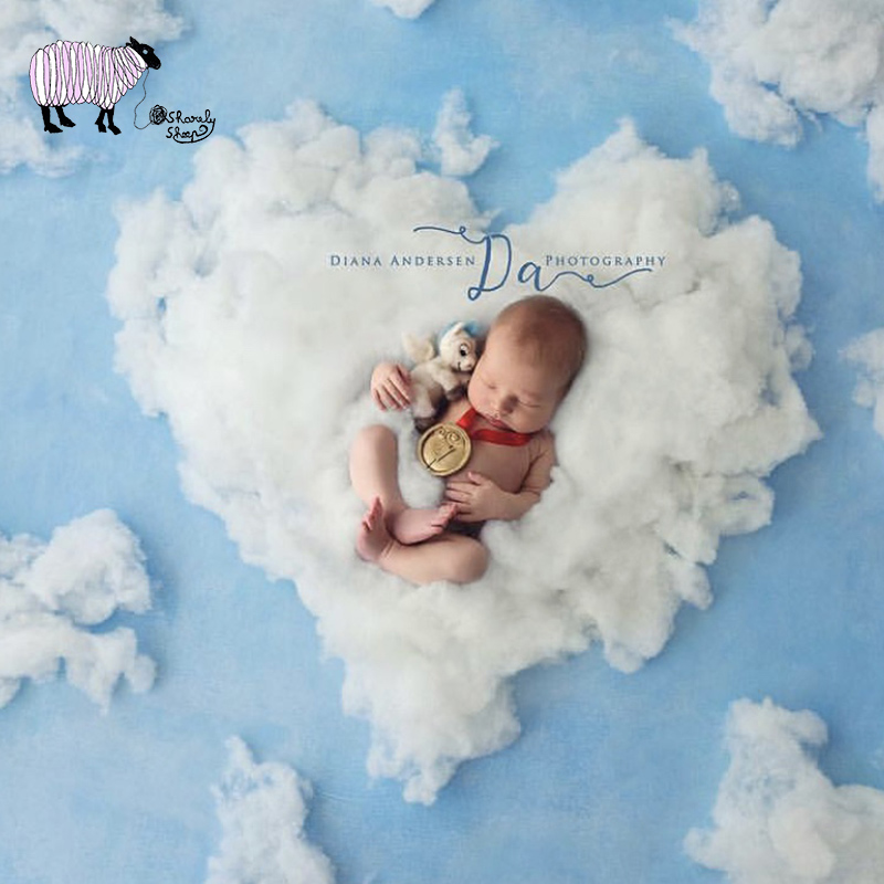 Newborn Photography Blanket Props Infant Baby Boy Girl Photo Shoot Studio Posing Basket Filler Bebe Fotoshooting Backdrop Props
