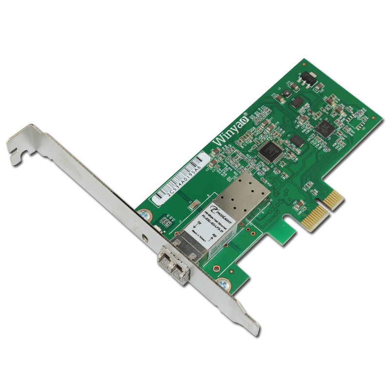 PCI-E x1 100M Fiber Ethernet Card SFF LC 1310nm 10km Optical Transceiver Module цена 2017