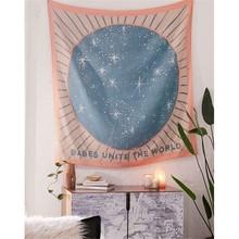 Гобелен настенный тканевый хиппи бохо психоделический гобелен настенный богемный с цветами и листьями звезда спальня тапиз Мандала Настенный Ковер