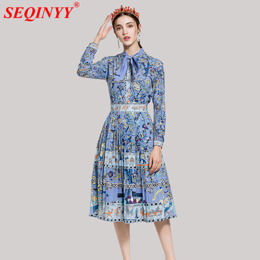 Grace Elegant Print Women Sets 2018 Spring High End Abstract Floral Print Full Sleeve Be ...