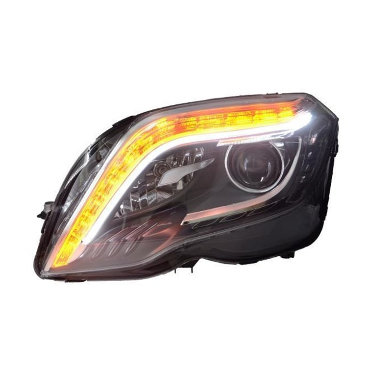все цены на Styling Drl Luces Para Auto Parts Lamp Led Side Turn Signal Daytime Running Headlights Car Lights Assembly For Mercedes Benz Glk