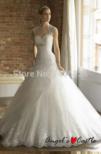 Detachable Jacket Embroidery Wedding Dresses Bridal Gown Elegant ...