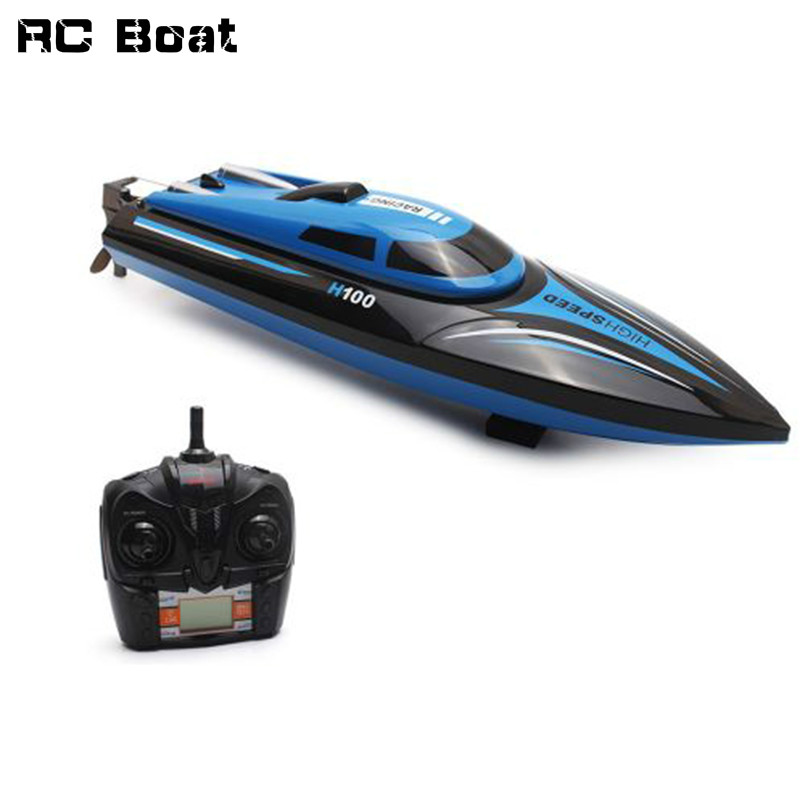 High Speed RC Boat H100 2.4GHz 4 Channel 30km/h Racing Remote Control Boat with LCD Screen as gift For children Toys Kids Gift наволочки на подушку валик из 100