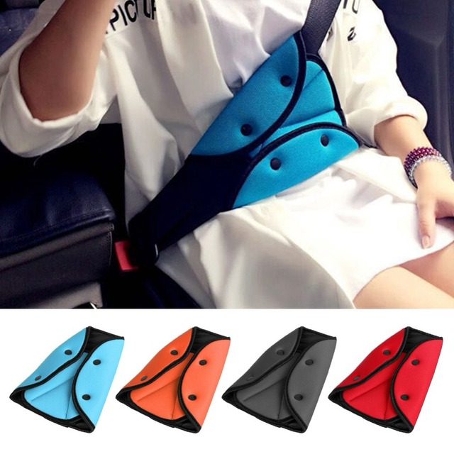 Car Children Safety Cover Harness Strap Adjuster Pad Kids Seat Belt Clip Baby Child Protection Car-Styling Car Goods  Adjustable