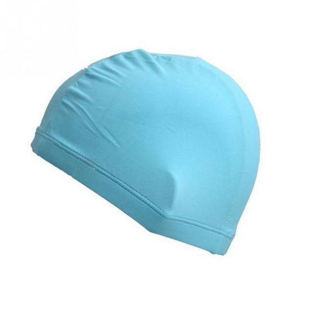 Élastique polyester Tissu Protéger Oreilles Cheveux Longs Sports Natation  Piscine Chapeau Bonnet de bain pour Hommes 3d85946d4b6