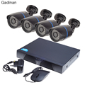 GADINAN Sistema CCTV ONVIF HD 1080 P 8CH NVR y 4 UNIDS 720 P IP Al Aire Libre Cámara de Vigilancia de Seguridad de Vídeo sistema NVR Kit