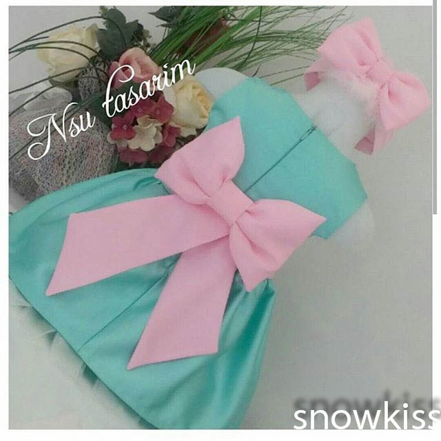 2016 Cute Mint Green flower girl dresses with Pink Bow Baby Birthday Party Dress ball gowns toddler princess pageant dresses
