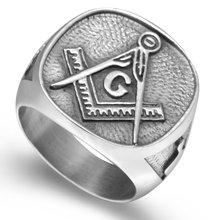 Классическое Античное винтажное байкерское кольцо из нержавеющей