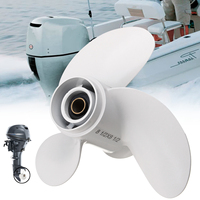 6G1 45941 00 EL 8 1/2 x 8 1/2 Boat Outboard Propeller for Yamaha 6 8HP Aluminum Alloy 7 Spline Tooths R Rotation White 3 Blades