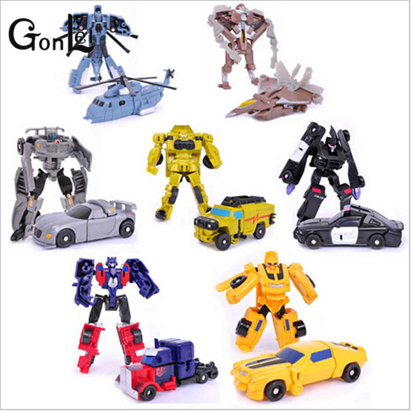 GonLeI 7st / lot Transformation Kids Classic Robot Cars Leksaker För Barn Action & Toy Figures