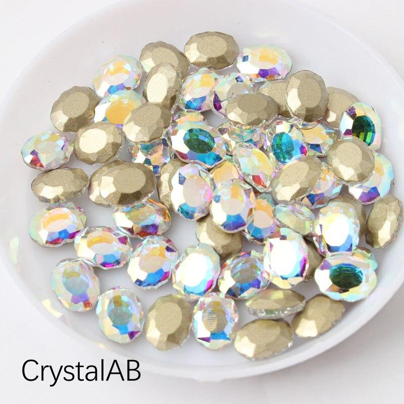 Зеркальная поверхность, не требующей горячей фиксации Стразы овальной формы 6x8 мм 30/100 шт./упак. для художественного оформления ногтей, ручная работа аксессуары свадебное платье для девочки ясельного возраста и сумка-чехол для нейл-арта - Цвет: Crystal AB